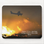Cessna150 approach -1, Cessna 172 on  short fin... Mouse Pads