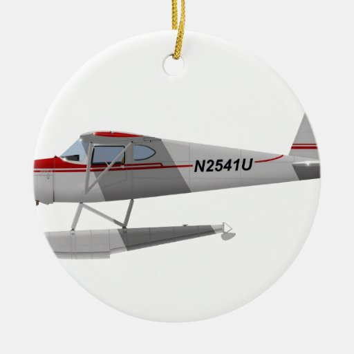 Cessna 140 en los flotadores N2541U Adorno Redondo De Cerámica