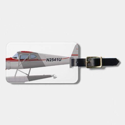 Cessna 140 en los flotadores N2541U Etiquetas Bolsas