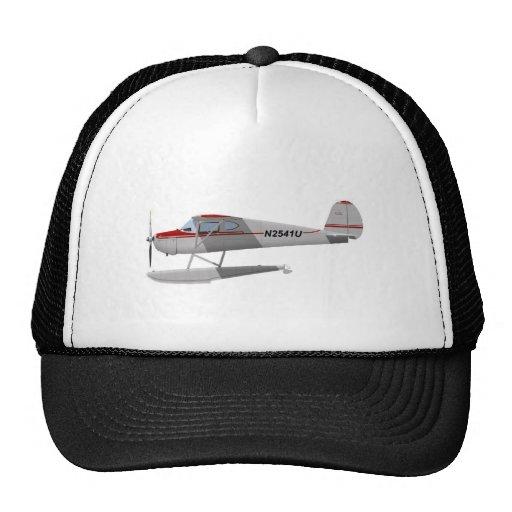 Cessna 140 en los flotadores N2541U Gorros