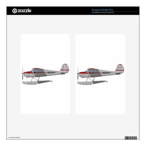 Cessna 140 en los flotadores N2541U Pegatina Skin Para Kindle Fire