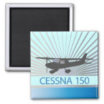 Cessna 150 Airplane 2 Inch Square Magnet