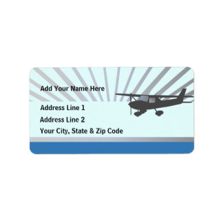 Cessna 150 Airplane Label