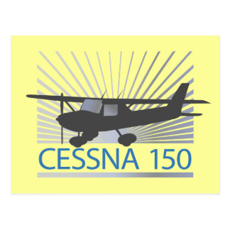 Cessna 150 Airplane Post Card
