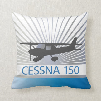 Cessna 150 Airplane Throw Pillow