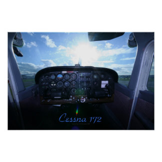 Cessna 172 Instrument Panel Poster