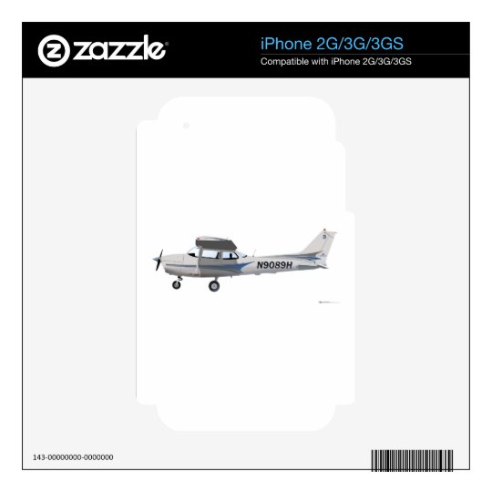 Cessna 172 Skyhawk Blue Decals For The iPhone 3G