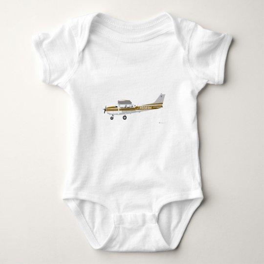 Cessna 172 Skyhawk Brown Baby Bodysuit