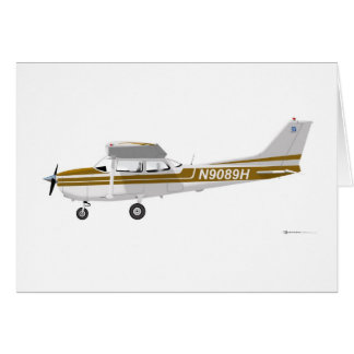 Cessna 172 Skyhawk Brown Card