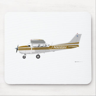 Cessna 172 Skyhawk Brown Mouse Pad