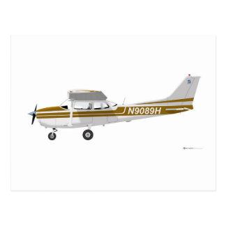 Cessna 172 Skyhawk Brown Postcard
