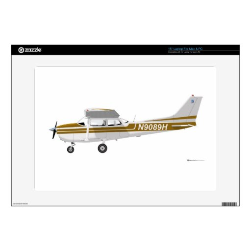 Cessna 172 Skyhawk Brown 38,1cm Portátil Calcomanía