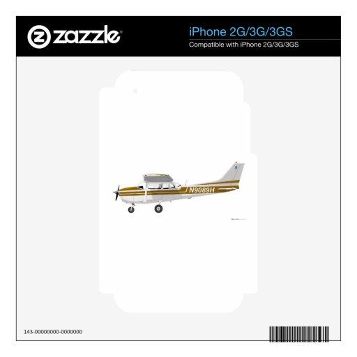 Cessna 172 Skyhawk Brown Skins Para eliPhone 3