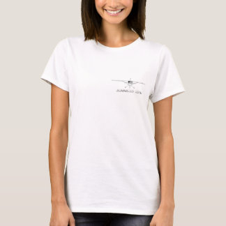 Cessna 172 Skyhawk with Front Line Drawing T-Shirt