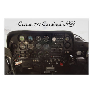 Cessna 177 Cardinal RG Instrument Panel Posters