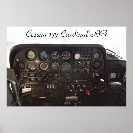 Cessna 177 Cardinal RG Instrument Panel Poster