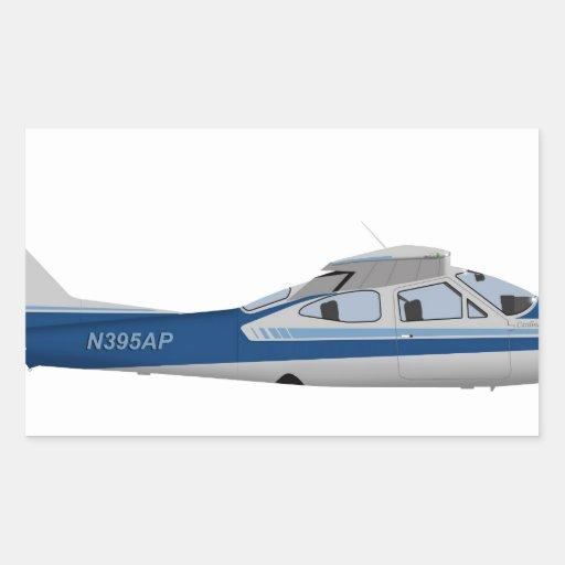 Cessna 177RG Cardinal 395395 Rectangular Sticker