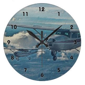 Cessna 182 - Seattle Large Clock