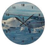 Cessna 182 - Seattle Reloj Redondo Grande
