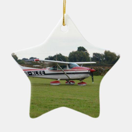 Cessna 182Q Ceramic Ornament