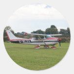 Cessna 182Q Classic Round Sticker