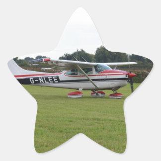 Cessna 182Q Pegatina En Forma De Estrella