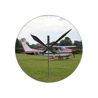 Cessna 182Q Reloj Redondo Mediano