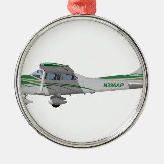 Cessna 182T Turbo Skylane II 396396 Adorno Navideño Redondo De Metal