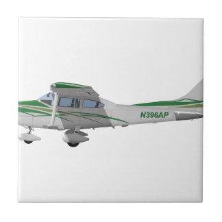 Cessna 182T Turbo Skylane II 396396 Azulejo Cuadrado Pequeño