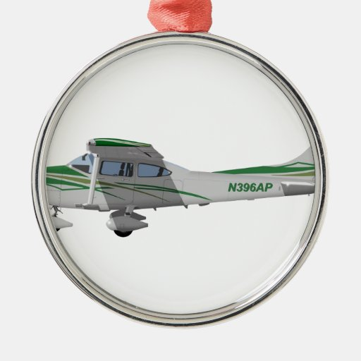Cessna 182T Turbo Skylane II 396396 Adorno Redondo Plateado
