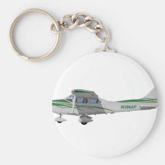 Cessna 182T Turbo Skylane II 396396 Llavero Redondo Tipo Pin