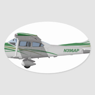 Cessna 182T Turbo Skylane II 396396 Oval Sticker