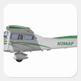 Cessna 182T Turbo Skylane II 396396 Pegatina Cuadrada