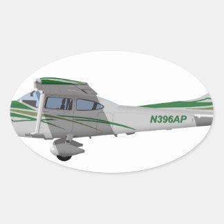 Cessna 182T Turbo Skylane II 396396 Pegatina Ovalada