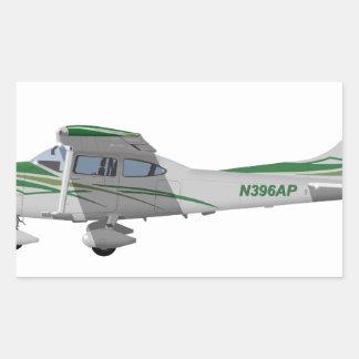 Cessna 182T Turbo Skylane II 396396 Pegatina Rectangular