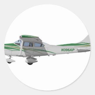 Cessna 182T Turbo Skylane II 396396 Pegatina Redonda