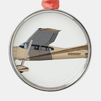 Cessna 185 Skywagon 390390 Adorno Navideño Redondo De Metal