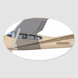 Cessna 185 Skywagon 390390 Oval Sticker