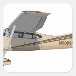 Cessna 185 Skywagon 390390 Pegatina Cuadrada
