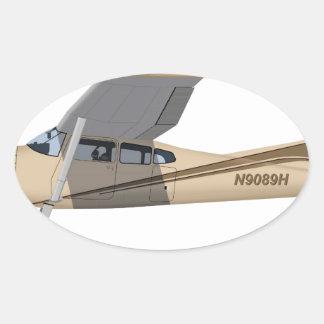 Cessna 185 Skywagon 390390 Pegatina Ovalada