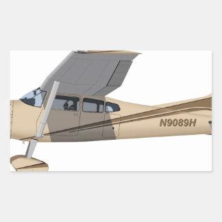 Cessna 185 Skywagon 390390 Pegatina Rectangular