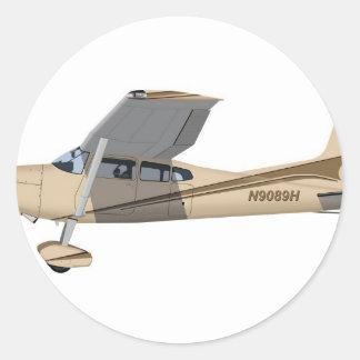 Cessna 185 Skywagon 390390 Pegatina Redonda