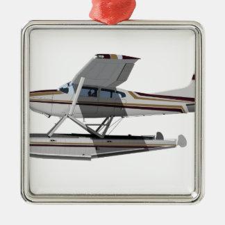 Cessna 185 Skywagon II 284547 Adorno Navideño Cuadrado De Metal