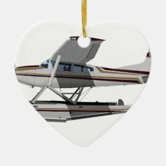 Cessna 185 Skywagon II 284547 Adorno Navideño De Cerámica En Forma De Corazón