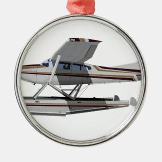 Cessna 185 Skywagon II 284547 Adorno Navideño Redondo De Metal