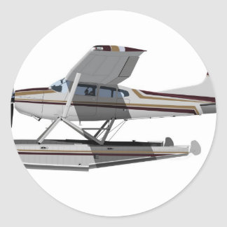 Cessna 185 Skywagon II 284547 Classic Round Sticker