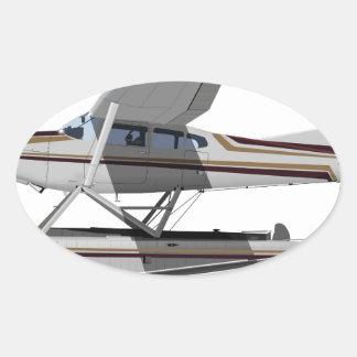 Cessna 185 Skywagon II 284547 Oval Sticker