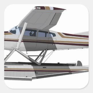 Cessna 185 Skywagon II 284547 Pegatina Cuadrada