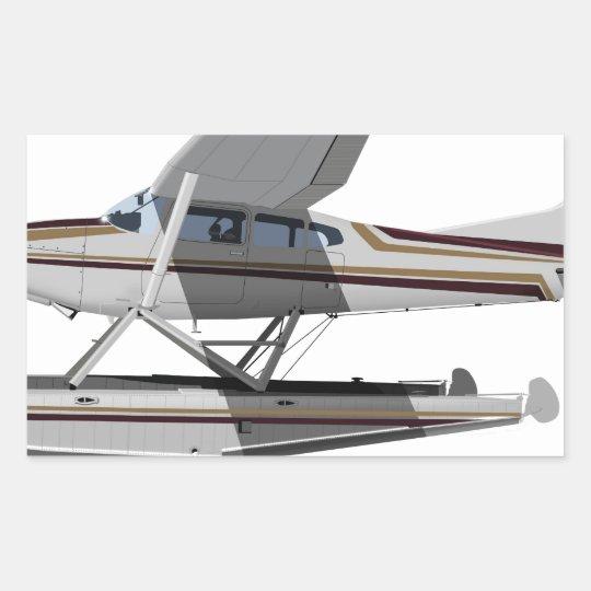 Cessna 185 Skywagon II 284547 Rectangular Sticker