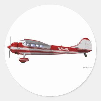 Cessna 195 classic round sticker